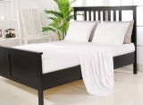 100% Organic Bamboo Sheet Set - White Ice